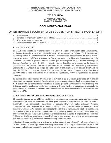 IATTC-70-09 VMS para CIAT - Comisión Interamericana del Atún ...
