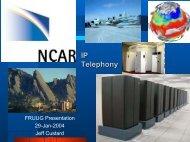 FRUUG VoIP presentation - NETS - University Corporation for ...