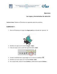 Ejercicios Las capas y herramientas de selección EJERCICIO 1: