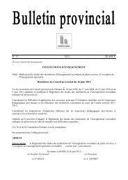 Bulletin n°17 du 28 août - La Province de Hainaut
