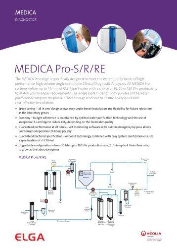 MEDICA Pro Datasheet - Elga Process Water