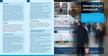 Informácie pre cestujúcich