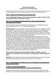 Protokoll vom 14.November 2012 - Nußloch