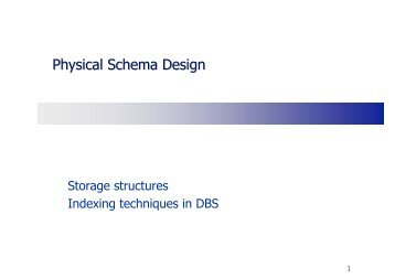 Physical Schema Design