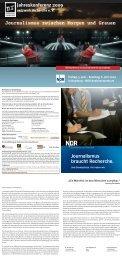 Samstag 6. Juni 2009 - Netzwerk Recherche