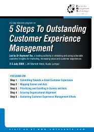 5 Steps To Outstanding Customer Experience ... - CMT Conferences