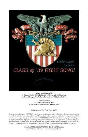Class of '39 Fight Song! - STORMWORLD