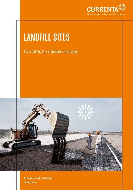 Landfill Sites (Engl.) (PDF / 695 KB) - Currenta