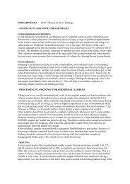 FORAMINIFERA (Prof J Murray & Dr EJ Rohling) - SAMPLING ...