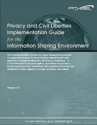Privacy and Civil Liberties Implementation Guide for the ... - ISE.gov