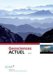Geoscience ACTUEL 2/2009 - Platform Geosciences - SCNAT