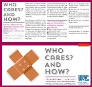 Who Cares? And - Friedrich-Ebert-Stiftung
