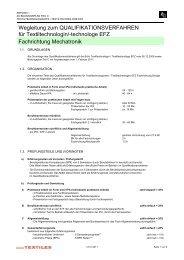 Wegleitung QV Fachrichtung Mechatronik