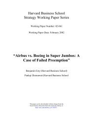 """""""Airbus vs. Boeing in Super Jumbos: A Case of Failed Preemption"""""""