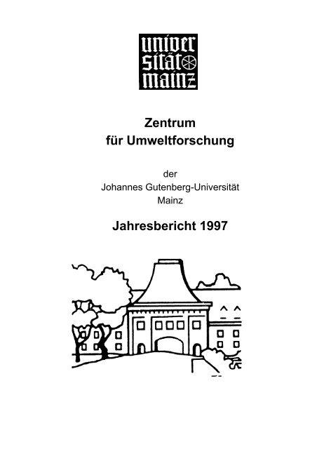 Johannes Gutenberg Universität Mainz Zentrum Für