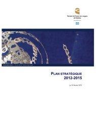 Tableau synoptique – Plan stratégique 2012-2015 - Centre des ...