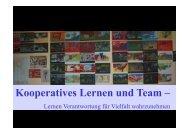 Kooperatives Lernen und Team –