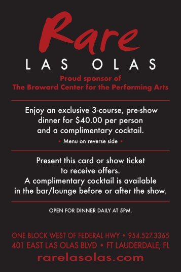 L A S O L A S - Broward Center for the Performing Arts