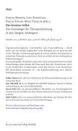 Sabine Maasen, Jens Elberfeld, Pascal Eitler, Maik Tändler (Hg ...