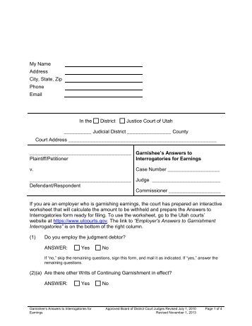 Wage Garnishment Worksheet Sf 329c Kidz Activities