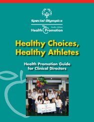 Healthy Choices, Healthy Athletes Health ... - Special Olympics