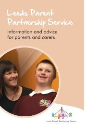 Download Our Booklet - Leeds Parent Partnership Service