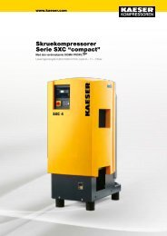 "Skruekompressorer Serie SXC ""compact"" - KAESER Kompressorer"