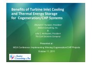 Benefits of Turbine Inlet Cooling and Thermal Energy Storage for ...