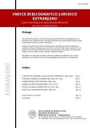indice bibliografico juridico extranjero - Facultad de Derecho ...