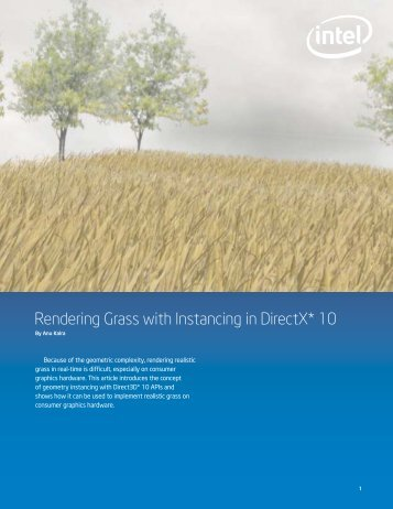 Rendering Grass with Instancing in DirectX* 10