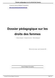 Dossier pédagogique sur les droits des femmes - AMNESTY ...
