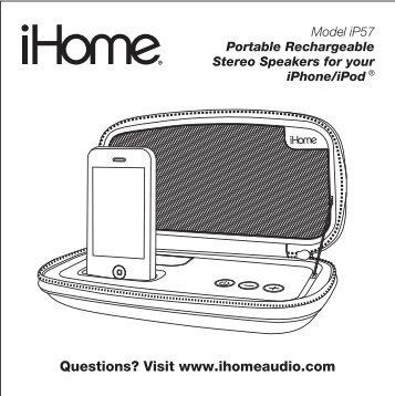 iP57 User Manual - iHome