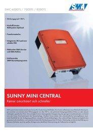 Sunny Mini Central SMC 6000TL / 7000TL / 8000TL - Solarblitz.ch