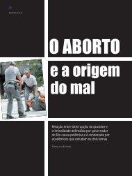 Relação entre interrupção da gravidez e criminalidade defendida ...