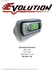 Ford 7.3 liter Evolution - Exhaust Gas Technologies Inc.