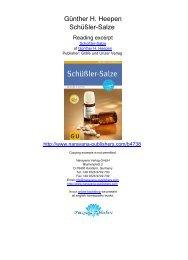Günther H. Heepen Schüßler-Salze