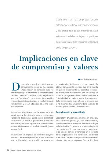 Implicaciones en clave de compromiso y valores - IEEM