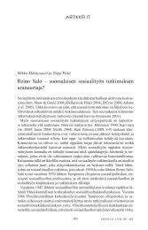 Reino Salo – suomalaisen sosiaalityön tutkimuksen uranuurtaja?