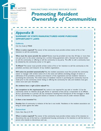 Promoting Resident Ownership of Communities - CFED