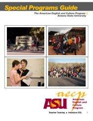 Special Programs Guide - ASU International - Arizona State University