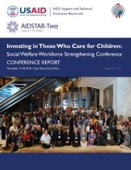 Investing in Those Who Care for Children: Social - National ...