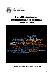 Handlingsplan for trygghetsskapende tiltak 2012 - Bydel Grünerløkka