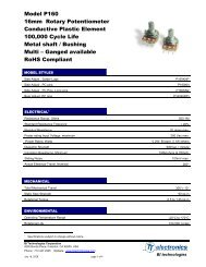 Model P160 16mm Rotary Potentiometer Conductive ... - Beriled