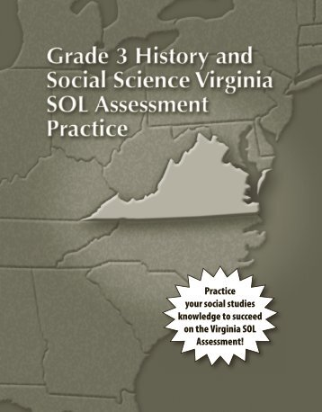 Grade 3 Virginia Sol Test Prep Workbook, Student Edition