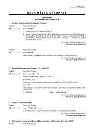 Výpis usnesení z jednání č. 72 ze dne 15. dubna 2013