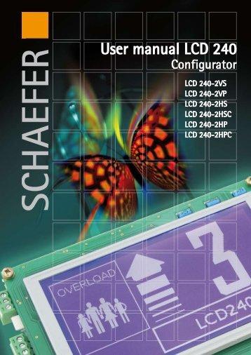 User Manual LCD 240-Configurator - SCHAEFER