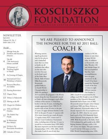 Fall 2010 - The Kosciuszko Foundation