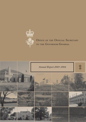 A'Report Text.qxd - Governor-General of the Commonwealth of ...