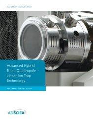Advanced Hybrid Triple Quadrupole – Linear Ion Trap ... - AB Sciex