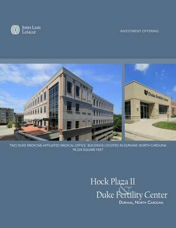 Hock Plaza II Duke Fertility Center - Jones Lang LaSalle Net Lease ...